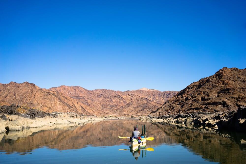Activités sur le fleuve Orange, Afrique du Sud