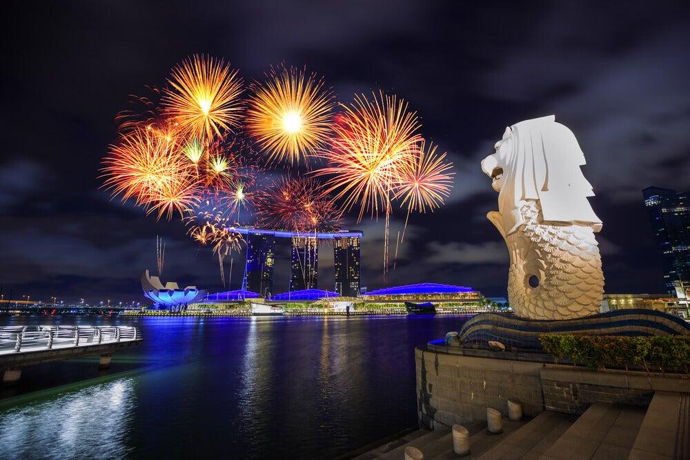 Profitez des spectacles de lumière de Singapour
