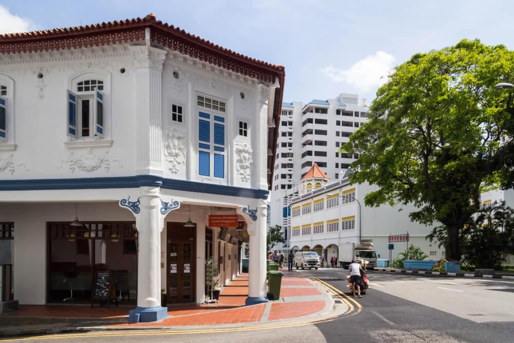 La vie dans les rues de Tiong Bahru à Singapour